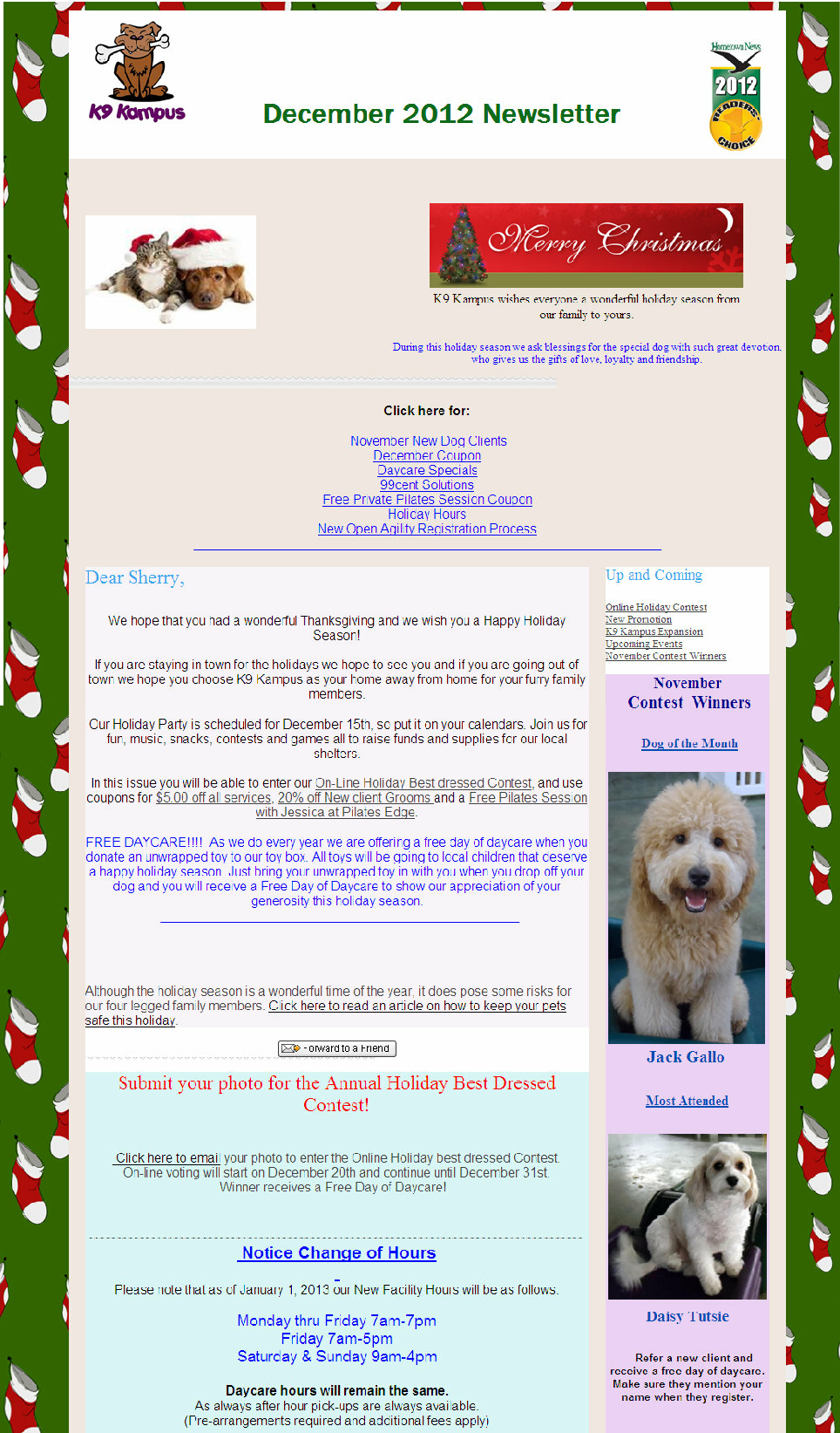 wp0d466747_06 Sample Daycare December Newsletter Templates on november monthly, for march home, creative arts, for parents summer, march month, for august, for december print out, about holidays off, article examples for,